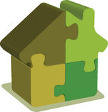 House puzzle Stock Image