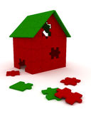 House puzzle pieces royalty free illustration