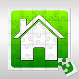 House puzzle Royalty Free Stock Images