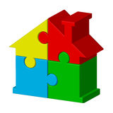 House from puzzles. Vector illustration of house from puzzles Royalty Free Stock Images