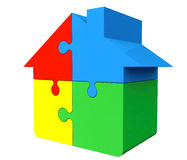 House from puzzles. On a white background Royalty Free Stock Images