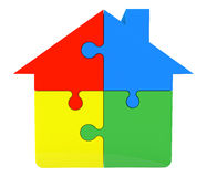House from puzzles. On a white background Stock Photo