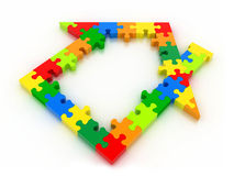 House puzzles Stock Photography