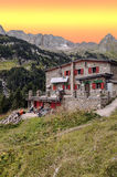 House in pyrennes mountains Stock Image