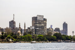 The house on the Quays on the river Nile in Cairo.Egypt Stock Photography