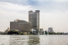 The house on the Quays on the river Nile in Cairo.Egypt Royalty Free Stock Photo