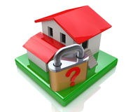 House and question lock stock images