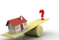 House and question mark Stock Images