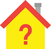 House with question mark symbol Royalty Free Stock Photo