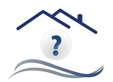 House question with wave. Vector Stock Photography