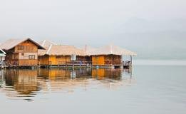 House on raft Stock Photos