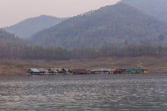 House rafting at Mae Ngad dam, Maetaeng Chiangmai province , Thailand Stock Photography