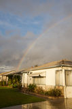 House and rainbow. In Los Angeles, California after a rain storm Royalty Free Stock Photo