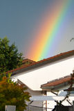 House and Rainbow Stock Images