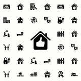 house with a raised finger icon. Real estate icons universal set for web and mobile royalty free illustration