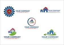 House, real estate, building, landscape, land, logo, design, vector. House real estate building commercial logo design vector vector illustration