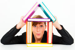 House real estate concept woman Royalty Free Stock Images