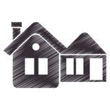 House real estate emblem Stock Photos