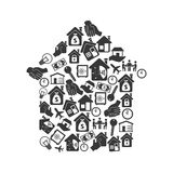 House real estate emblem Royalty Free Stock Photography