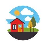 House real estate emblem Royalty Free Stock Photos