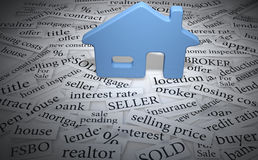 House on real estate home word tags stock illustration