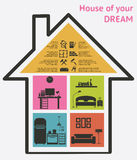 House and real estate icons vector illustration Royalty Free Stock Photo