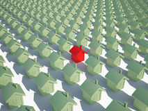 Houseс real estate immobile 3d cg Stock Images