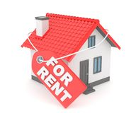 House real estate for rent. 3D rendering. Royalty Free Stock Photos