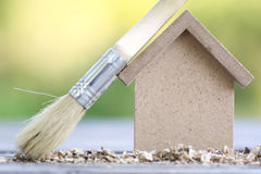 House real estate shape and brush Stock Photo