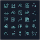 House and real estate stock vector icons. For your design Stock Photography