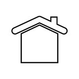 House real estate symbol. Icon vector illustration graphic design Stock Image