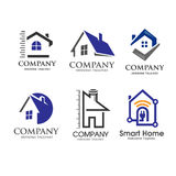 House and real estate symbol minimalist concept Stock Photos