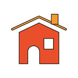 House real estate vector illustration Royalty Free Stock Photo