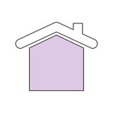 House real estate vector illustration Royalty Free Stock Images