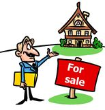 House  realtor  for sale illustration Stock Photography