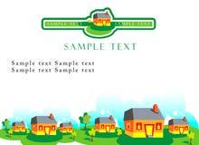 House realty template emblem. House realty presentation template business emblem stock illustration