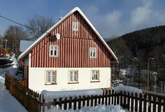 House for recreation. Nice house for recreation in the czech mountains Stock Photo