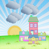 House from recycle paper Royalty Free Stock Photography