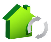 House and recycle sign illustration design Royalty Free Stock Image