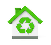 House with Recycle Symbol Royalty Free Stock Image