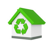 House with Recycle Symbol Stock Photos