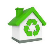 House with Recycle Symbol Stock Photography