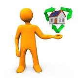 House Recycling Royalty Free Stock Photography