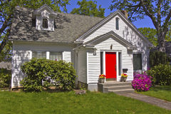 House with a red door. House with a red door Hood River Oregon royalty free stock images