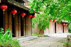 house; red lantern Stock Photos