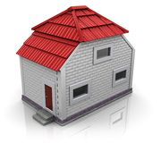 House with red roof Stock Image