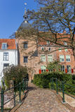 House with red shutters in a park in Amersfoort Stock Photography