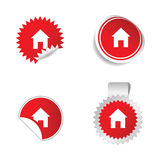 House red sticker  Stock Photography