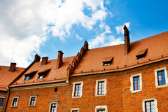House with red tile roof and windows Royalty Free Stock Photography