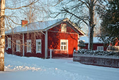 House with red walls. Royalty Free Stock Photo